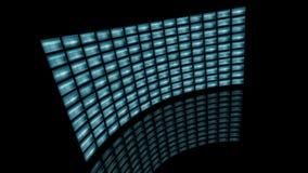Distorted curvó la vuelta video de la pared a la izquierda representación 3d Imágenes de archivo libres de regalías