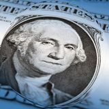 Distorted dollar bill Royalty Free Stock Photos
