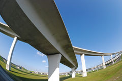 Distorted expressway Stock Images