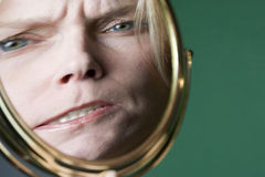 Distorted face Stock Photography