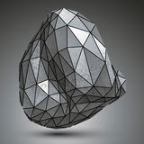 Distorted galvanized 3d object created from geometric figures, c Royalty Free Stock Images