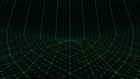 Distorted grid background green stock images