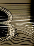 Distorted guitar Royalty Free Stock Photo