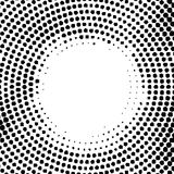 Distorted halftone dotted background randomly distributed. Royalty Free Stock Image