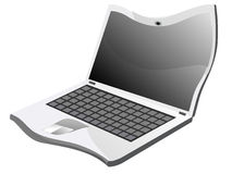 Distorted laptop on white background Royalty Free Stock Images