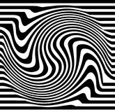 Distorted lines. Ripple, twirl distorted abstract lines Royalty Free Stock Image