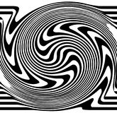 Distorted lines. Ripple, twirl distorted abstract lines Royalty Free Stock Photography