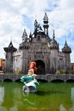 Distorted mermaid sculpture at Dismaland Royalty Free Stock Images