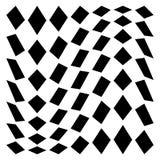 Distorted mesh, grid geometric element. Irregular mosaic visual. Element - Royalty free vector illustration Stock Photography