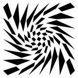 Distorted mesh, grid geometric element. Irregular mosaic visual. Element - Royalty free vector illustration Royalty Free Stock Photo