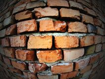 Distorted old brick wall Stock Images