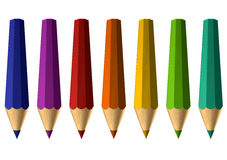 Distorted pencils. In different colors stock illustration