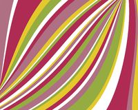 Distorted retro colorful stripes background Stock Images