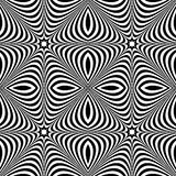 Distorted seamless pattern. Repeatable abstract monochrome backg Stock Photo