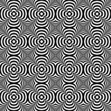Distorted seamless pattern. Repeatable abstract monochrome backg Stock Images