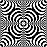 Distorted seamless pattern. Repeatable abstract monochrome backg Royalty Free Stock Photography