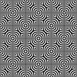 Distorted seamless pattern. Repeatable abstract monochrome backg Stock Image
