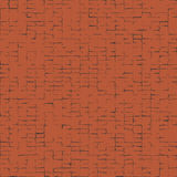 Distorted squares abstract pattern.Black squares  on red background. Illustration for your design.Noisy bricks texture. Stock Image