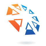 Distorted Triangles Abstract Icon Royalty Free Stock Image