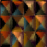 Distorted triangles Stock Images