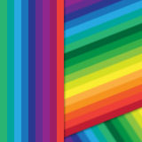 Distorted vertical colorful stripes Stock Image