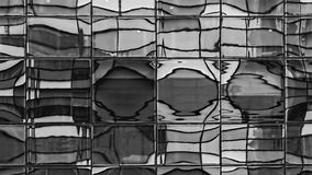 Distorted Windows Reflection - Black and White Stock Images