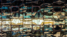Distorted Windows Reflection. Color corrected of the real image royalty free stock photography