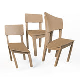 Distorted wooden chairs Royalty Free Stock Photography