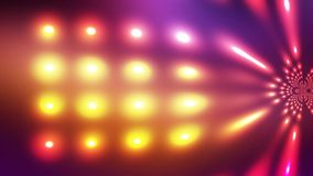 Distorting Glowing color lights stock footage