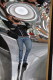 Distorting mirror Stock Images