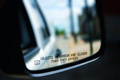 Distortioin зеркала автомобиля Стоковая Фотография