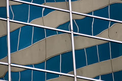 Distortion. Distorted reflections from windows on an office building in Melbourne, Australia Stock Photos