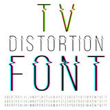 Distortion font Stock Image