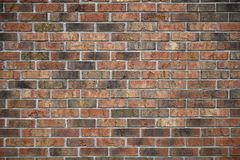 A distortion-free, variegated-color brick wall stock photography