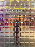 Distortion reflection in shop-window Royalty Free Stock Images