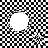 Distortion in space . black hole squares Black - white. Vector illustration . Stock Image