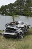 Distracción conduciendo accidente mortal y víctimas mortales Foto de archivo