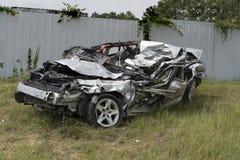Distracción conduciendo accidente mortal y víctimas mortales Fotos de archivo