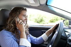 Distracted Driver Royalty Free Stock Photo