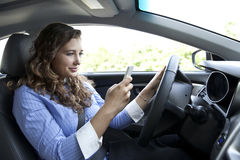 Distracted Driving royalty free stock images