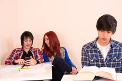 Distracted students Stock Photo