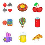 Distraction icons set, cartoon style Stock Image