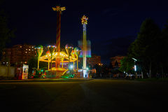 Distraction park. Tineretului distraction park by night in Bucharest Romania royalty free stock photography