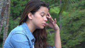 Distraught Confused And Anxious Teen Girl Royalty Free Stock Photography
