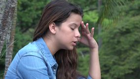 Distraught Confused And Anxious Teen Girl Stock Photos