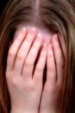 distraught kvinnlig Arkivfoton