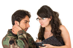 Distraught military soldier veteran ptsd royalty free stock images