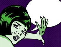 Distraught Woman popart. Distraught Woman A look of terror Stock Images