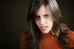 Distraught Young Woman Royalty Free Stock Photos