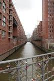 Distrct Amburgo di Warhouse Fotografia Stock
